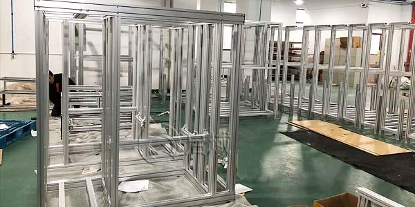 工业铝型材框架组装与发货