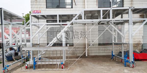 工业流水线铝型材跨线梯-飞机检修平台案例
