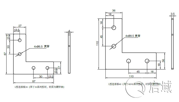 QY-L型连接板