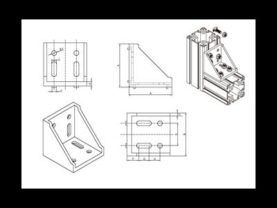 铝型材螺栓安装图
