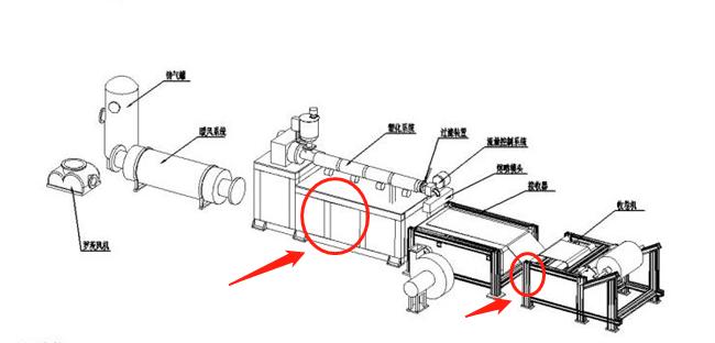 熔喷布收卷机机架