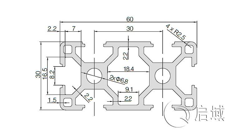 QY-8-3060铝型材图纸