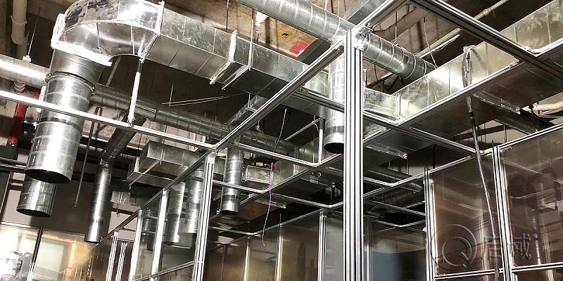 餐厅铝型材隔断