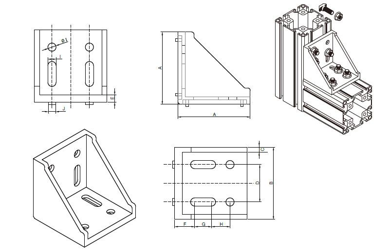 工业铝型材角件