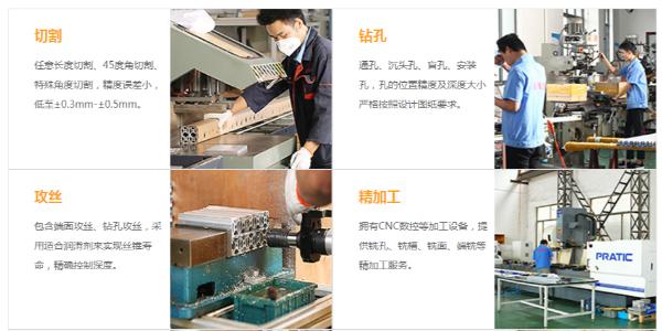工业铝型材加工内容