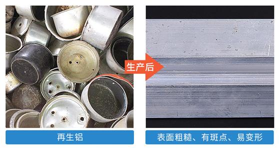 废铝挤压铝型材