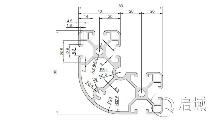 QY-8-8840铝型材图纸
