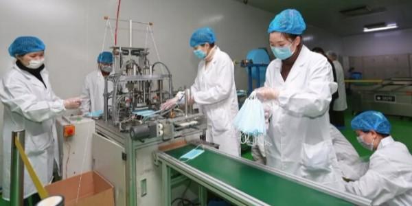 口罩生产过程