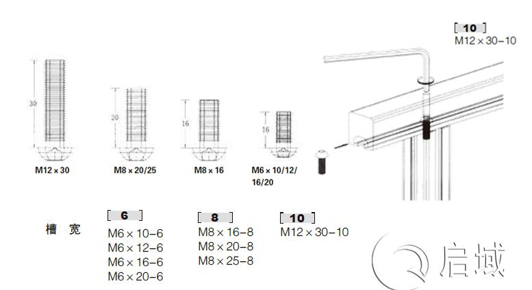 铝型材直角螺栓连接
