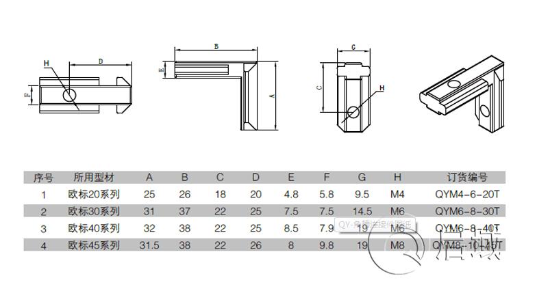 铝型材角槽连接件