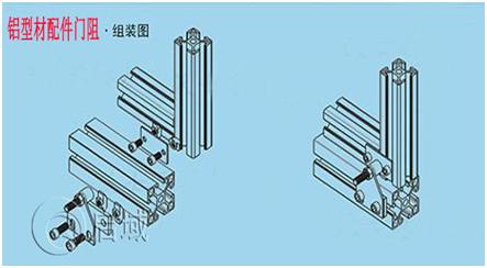 铝型材门阻安装图