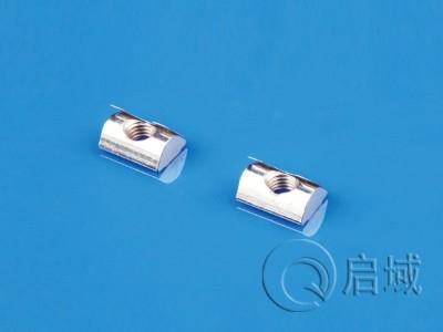 工业铝型材配件之弹片螺母的安装方式