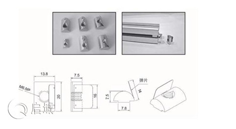 弹片螺母安装图纸