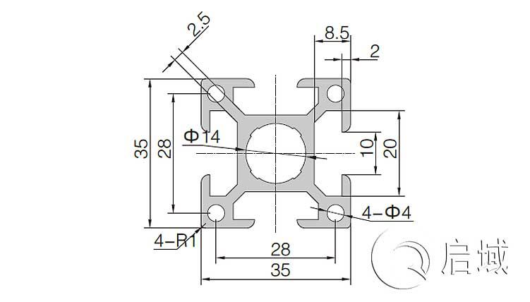 QY-10-3535铝型材图纸