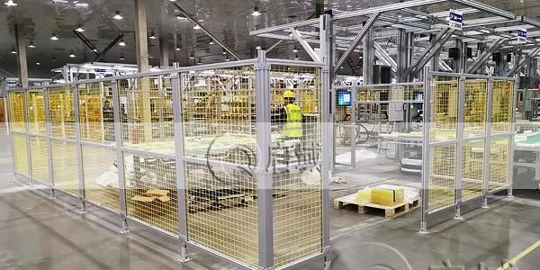 铝型材安全围栏安装不同挡板用途