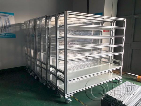 可移动铝型材置物架