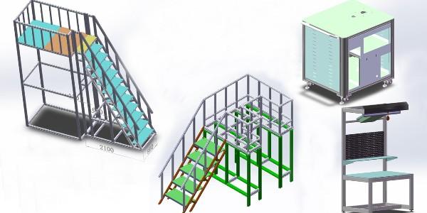 工业铝型材框架CAD图纸