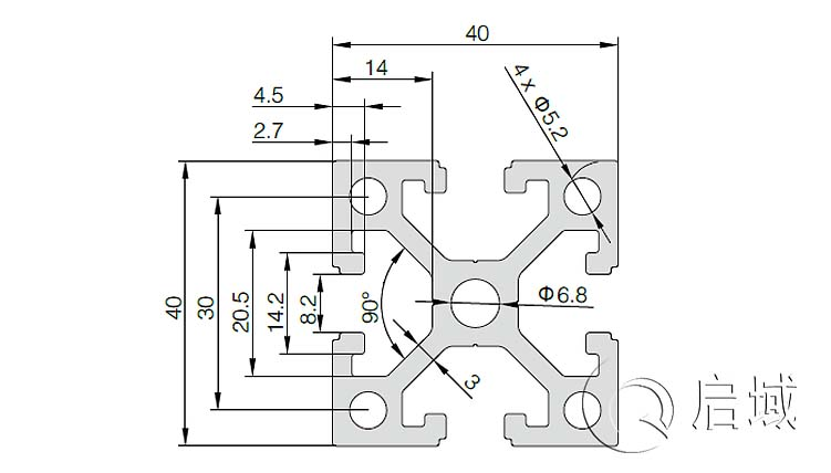 QY-8-4040EW铝型材