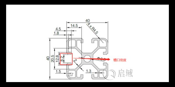 工业铝型材的槽宽有哪些作用?