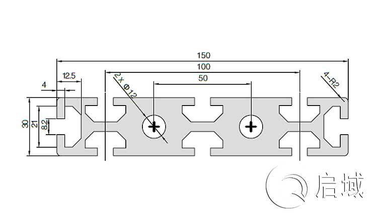 QY-8-30150W铝型材图纸