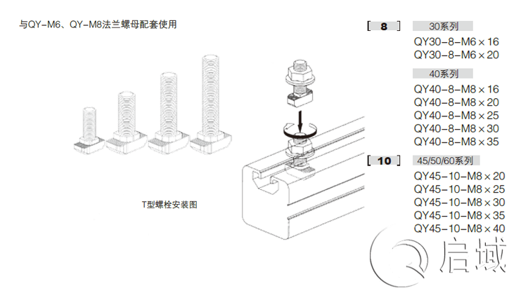 QY-T型螺栓图纸