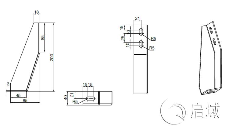 QY-地脚角件图纸
