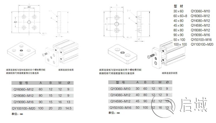 QY-端面连接板图纸