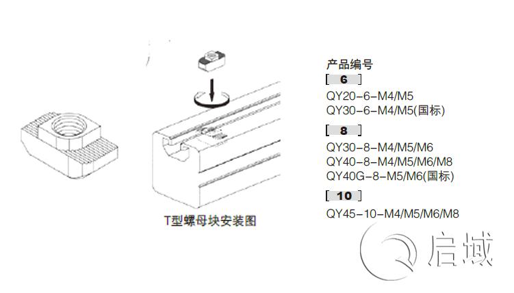 QY-T型螺母图纸