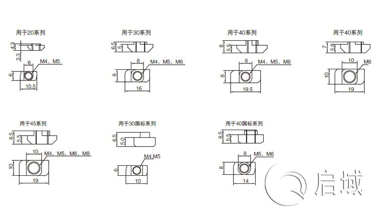 QY-T型螺母块图纸