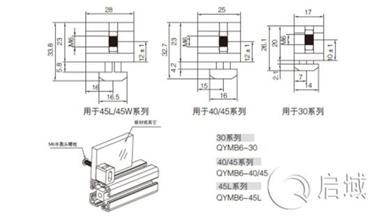 铝型材间隔连接块连接图