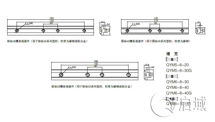 QY-槽条连接件 图纸