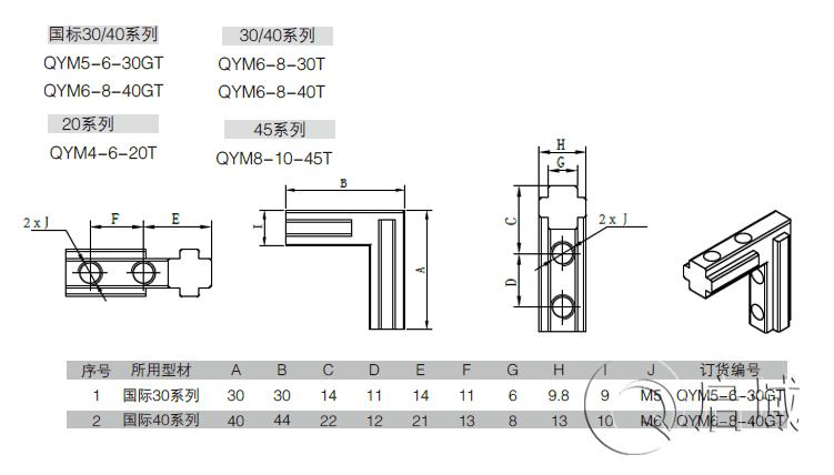 QY-角槽连接件图纸